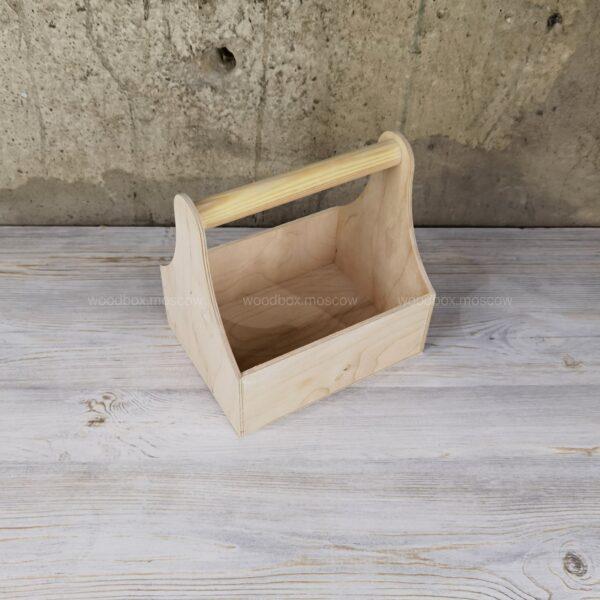 деревянные переноски для продуктовых наборов