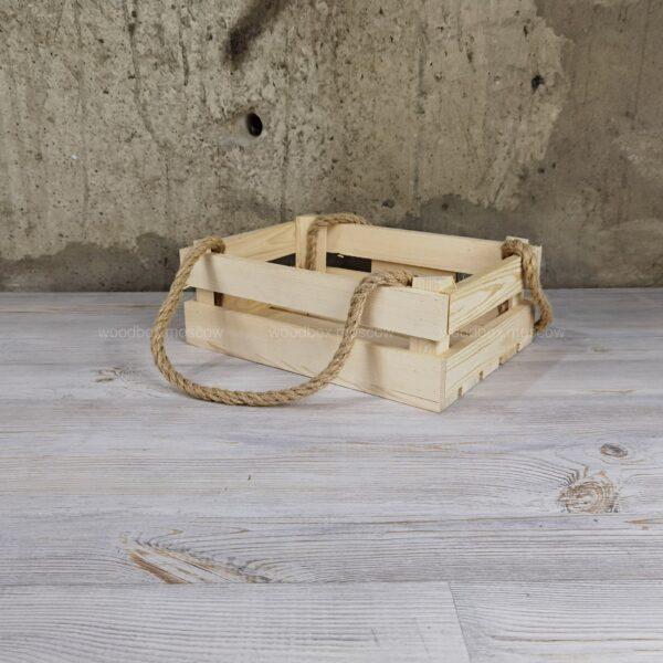 реечный ящик с джутовыми ручками