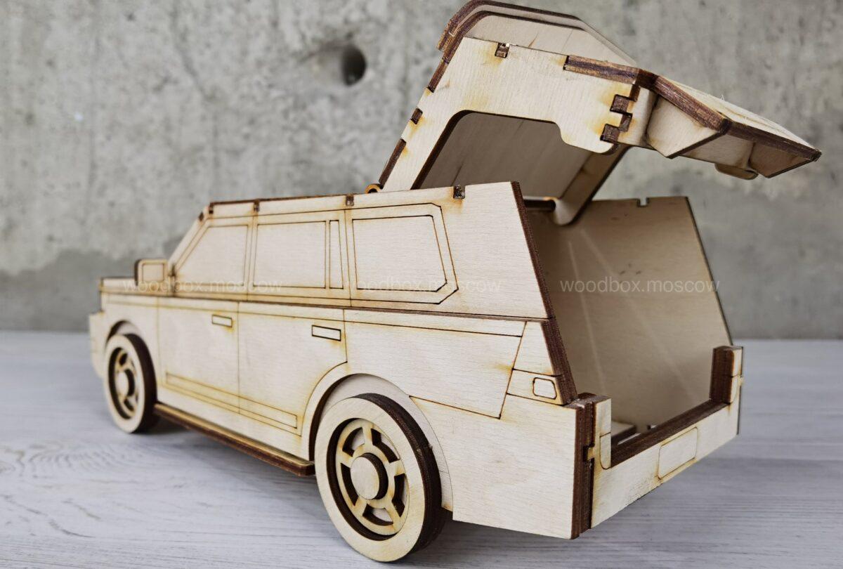 автомобиль сборный из дерева